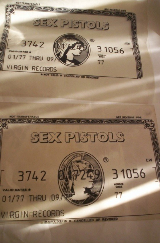 30: Sex Pistols American Express Banned Original Design