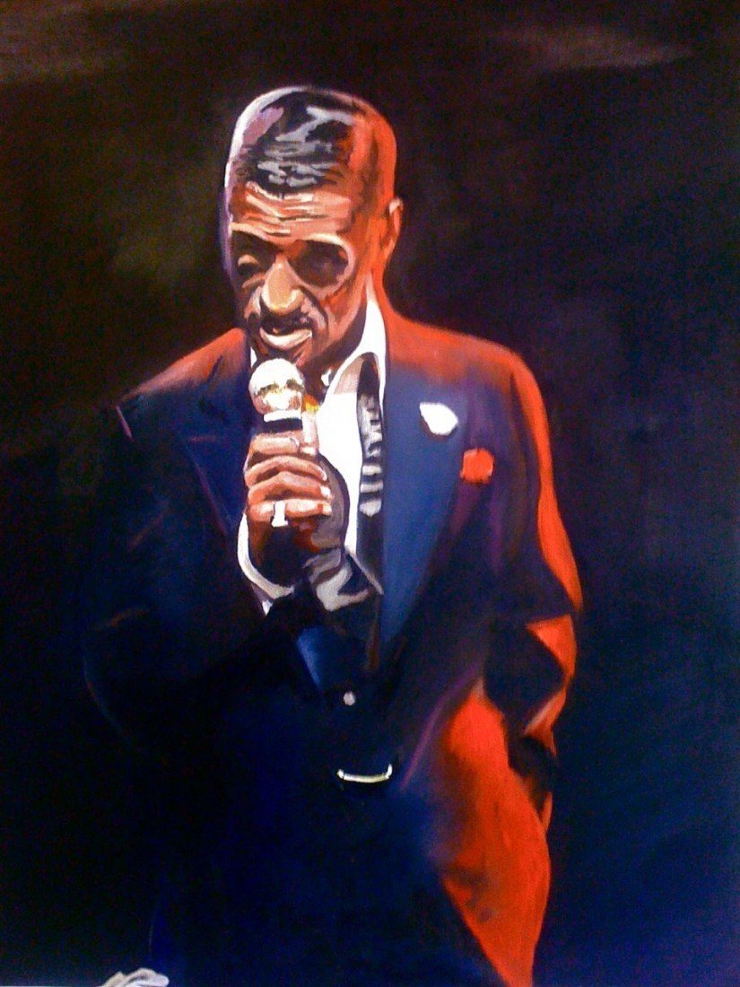 7: Original Oil of Sammy Davis Junior with Sammys signa