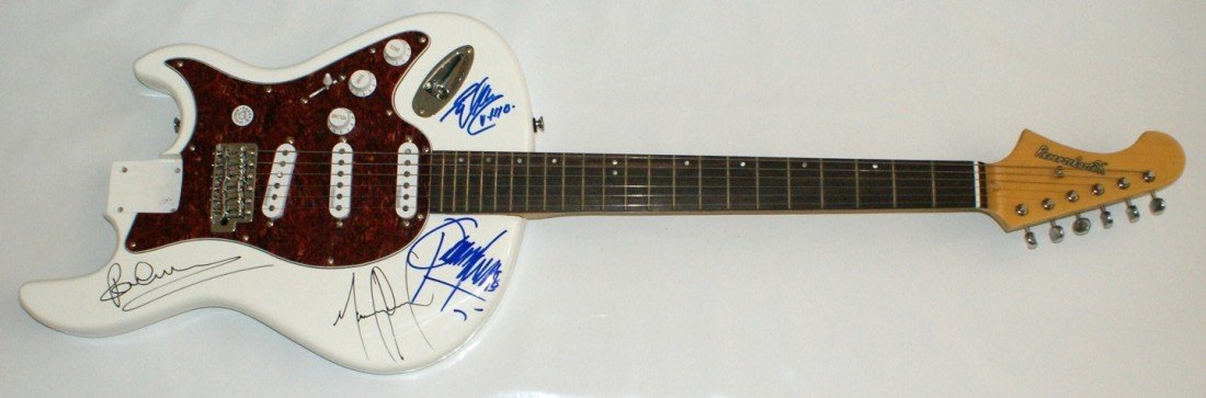 114: Michael Jackson/McCartney Thriller Guitar Signed