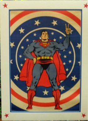 Superman  A Quad Sized Matt Finish Poster