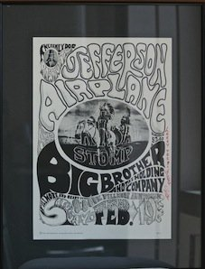 "Jefferson Airplane ""Tribal Stomp"" Fillmore Signed Poste"