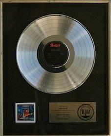 Cyndi Lauper RIAA Record Award