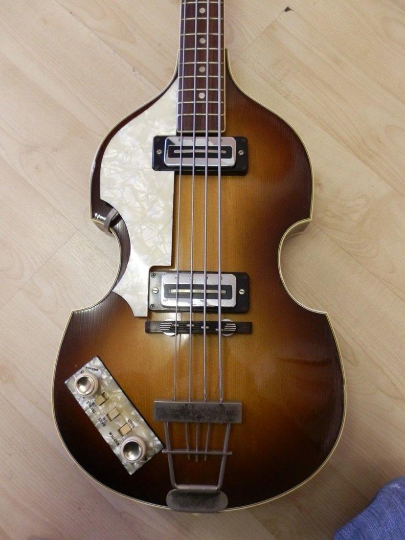 Paul McCartney Used/Played Hofner Bass