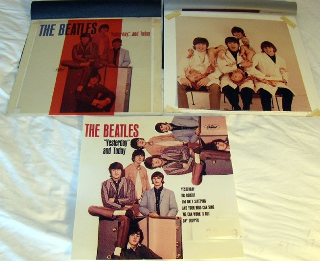 Beatles unreleased proof covers of 'Yesterday & Today'