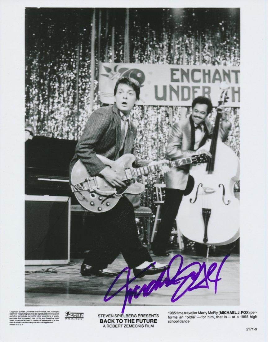 Michael J Fox Autographed publicity photograph