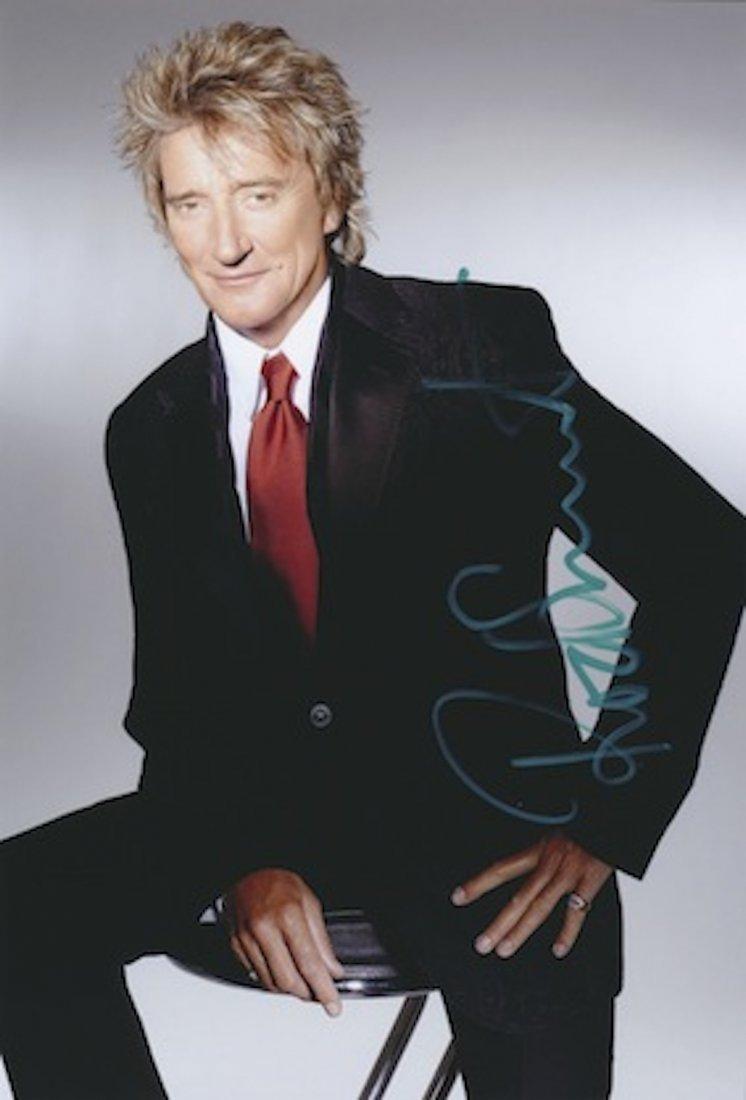 Rod Stewart Autographed publicity photograph