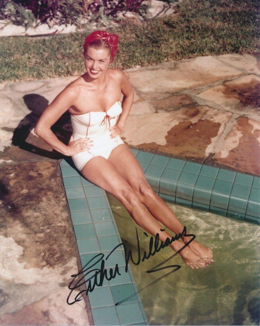 Esther Williams Autographed publicity photograph