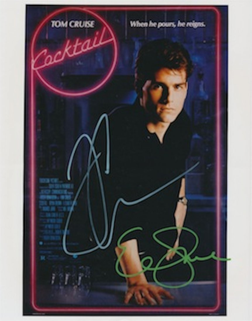 Tom Cruise & Elizabeth Shue autographed photograph