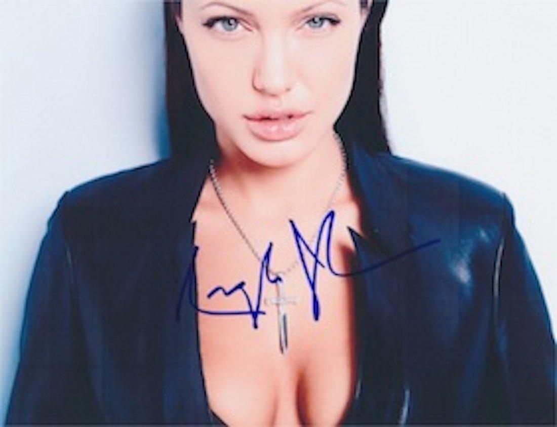 Angelina Jolie Autographed publicity photograph