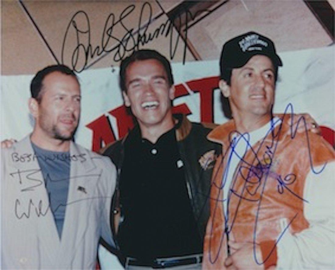 Bruce Willis, Arnold Schwarzenegger & Sylvester
