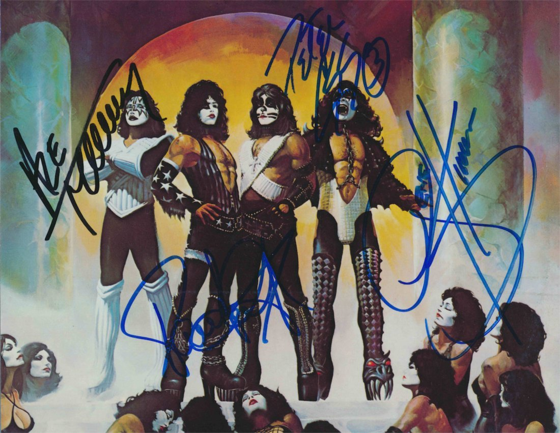 Kiss signed photograph