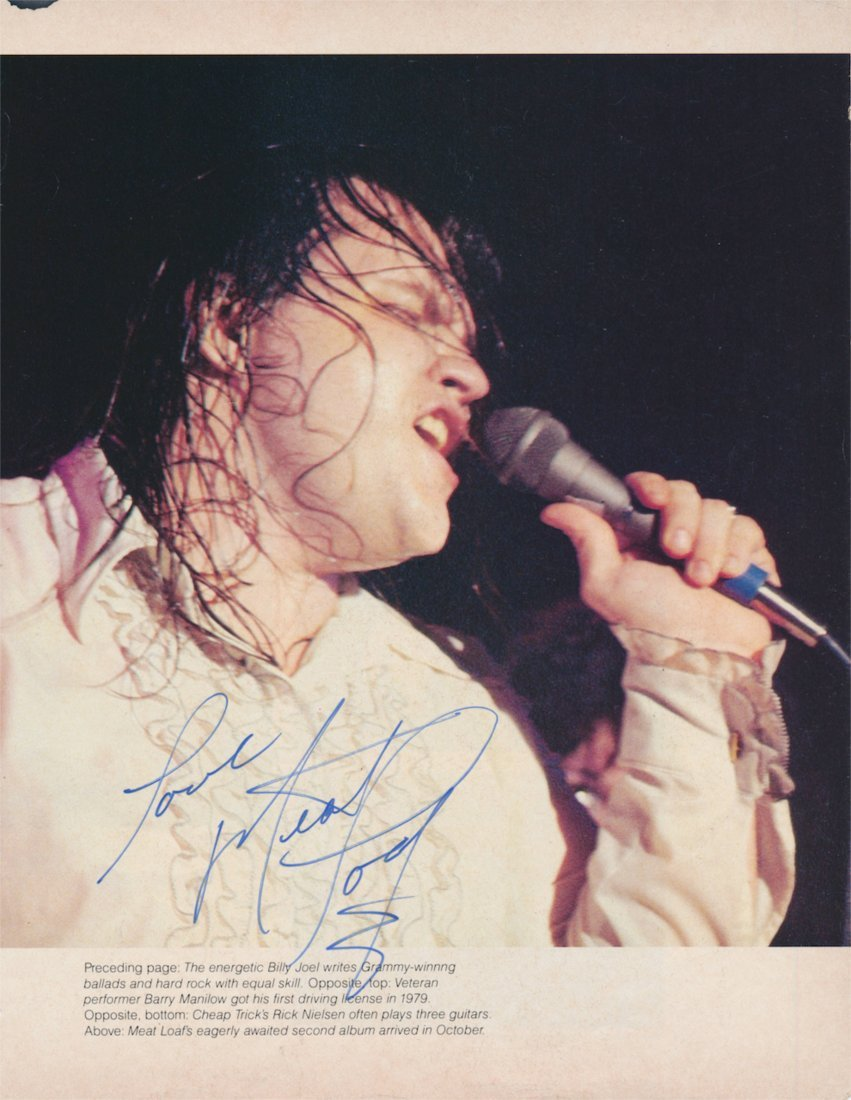 Meatloaf Autographed magazine clipping