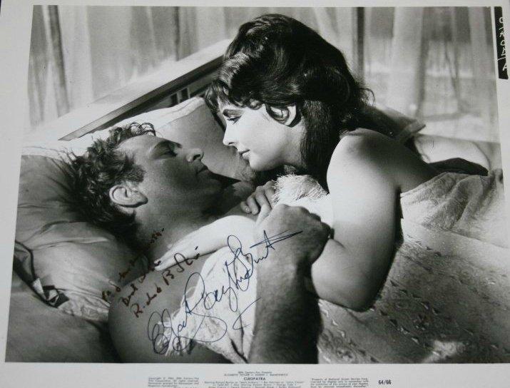 Elizabeth Taylor/Richard Burton signed photograph from'