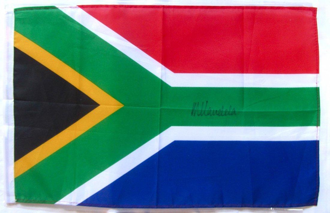 Nelson Mandela signed South African flag