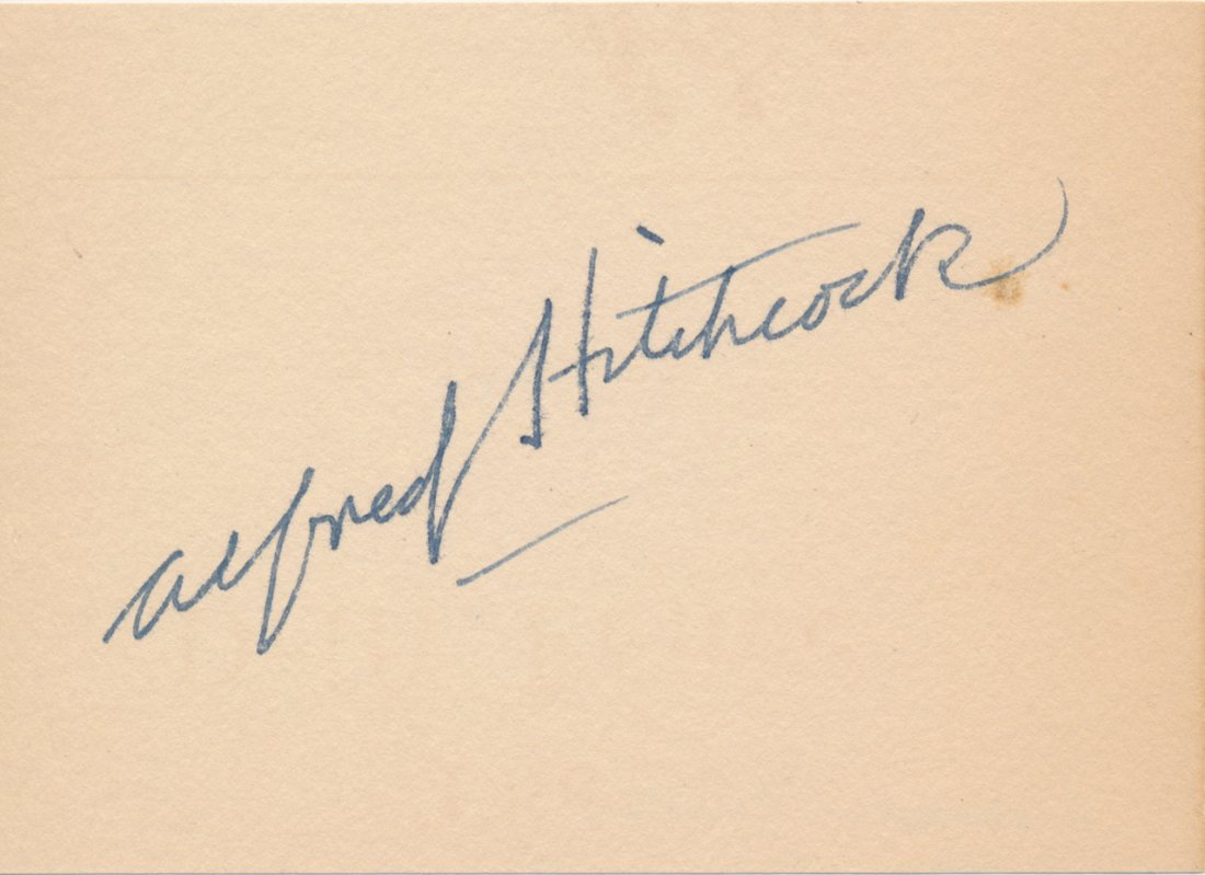 Alfred Hitchcock Autographed Album Page