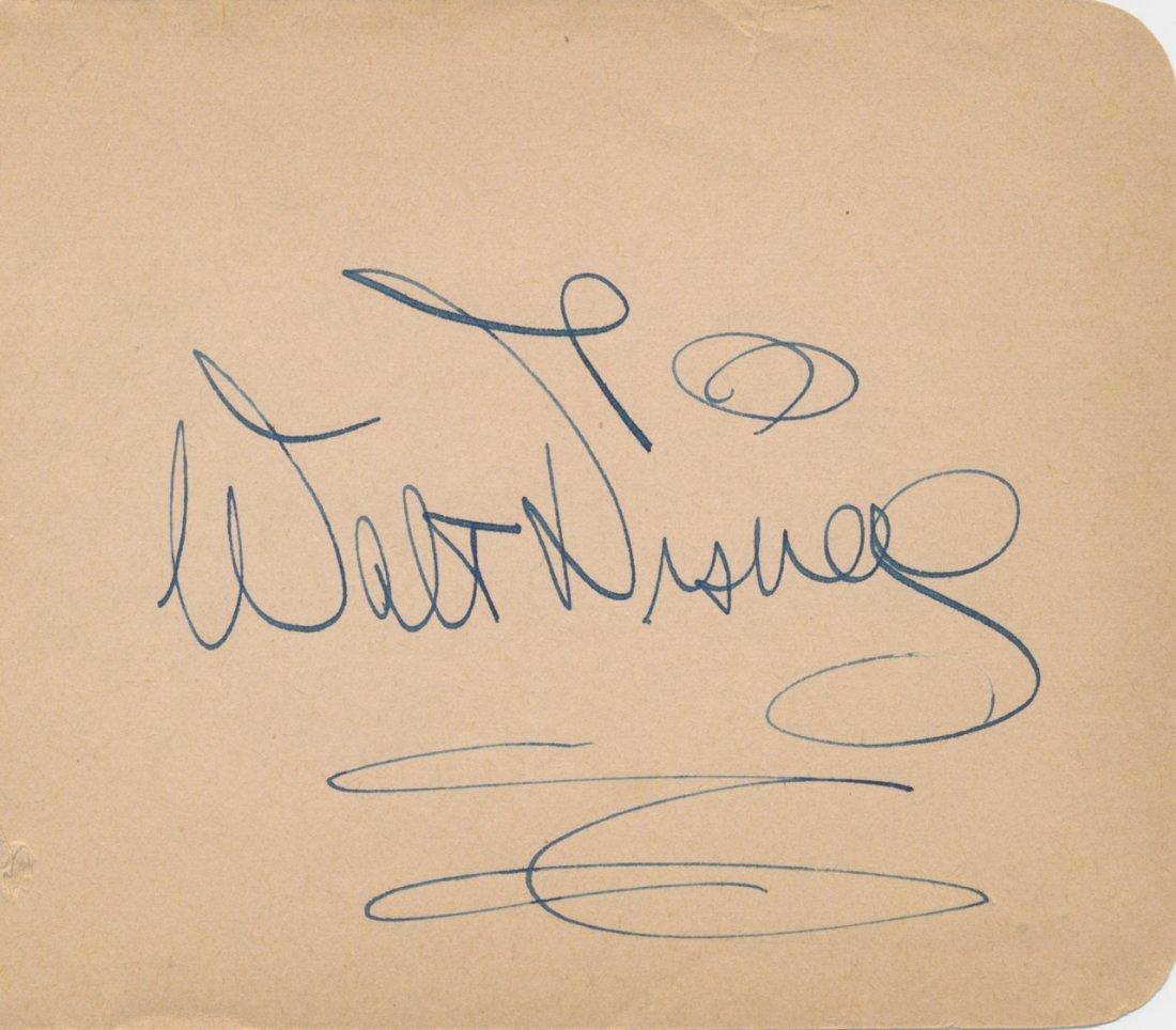 Walt Disney Autographed Album Page