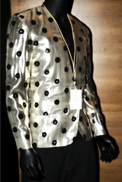 Prince worn designed gold lame & black sequined jacket