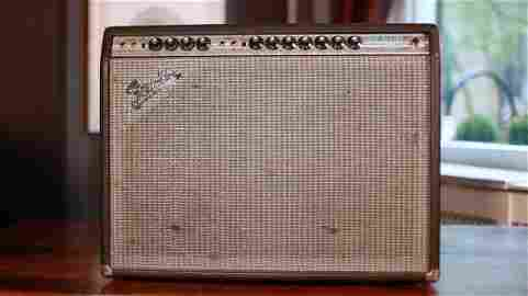 Jimi Hendrix 1969 Owned and used Fender Amplifier