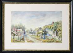"Lillian Gertrude Smith Watercolor ""Broadway, Sconset"""