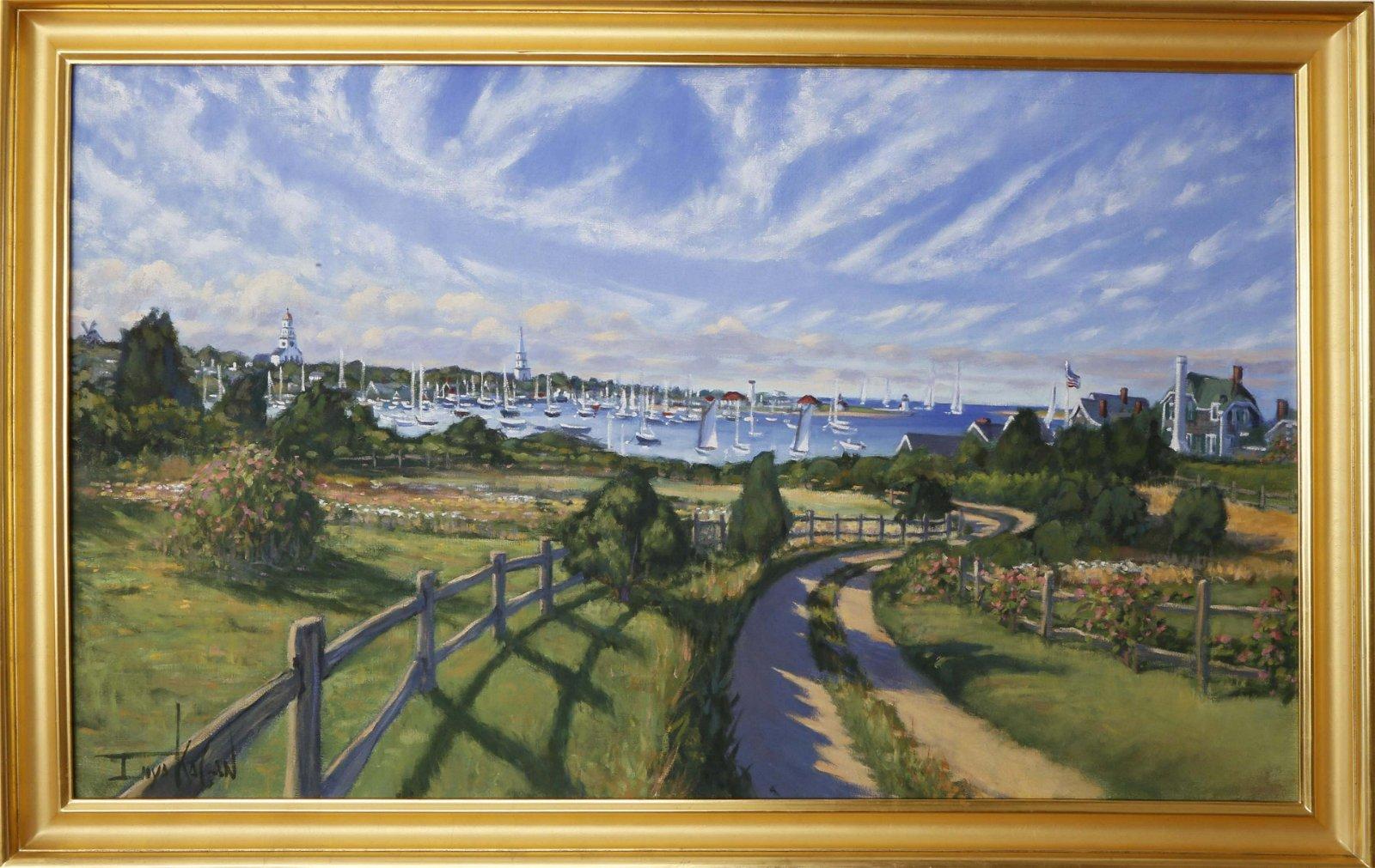 Illya Kagan - View of the Town of Nantucket