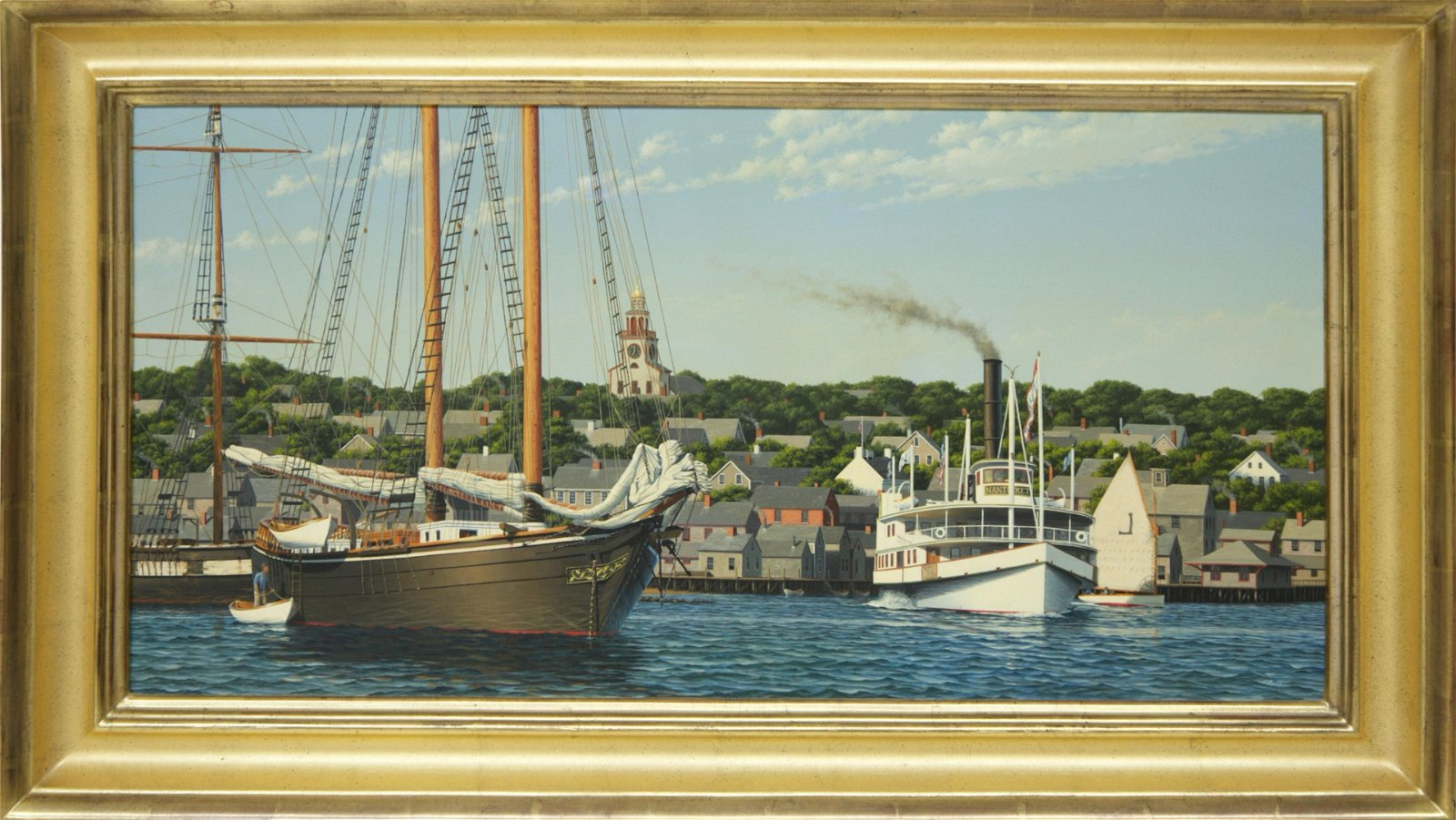 """Forrest Anderson Rodts Painting """"Nantucket Harbor View"""""""
