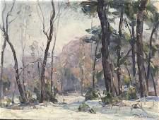 Frank Swift Chase  Wooded New England Landscape