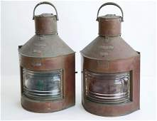 2 W.T. George & Co. LTD Copper Port & Ship's Lanterns