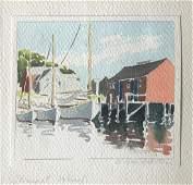 "Doris and Richard Beer Painting - ""Straight Wharf"""