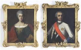 Pair of South German School Portraits, circa 1732