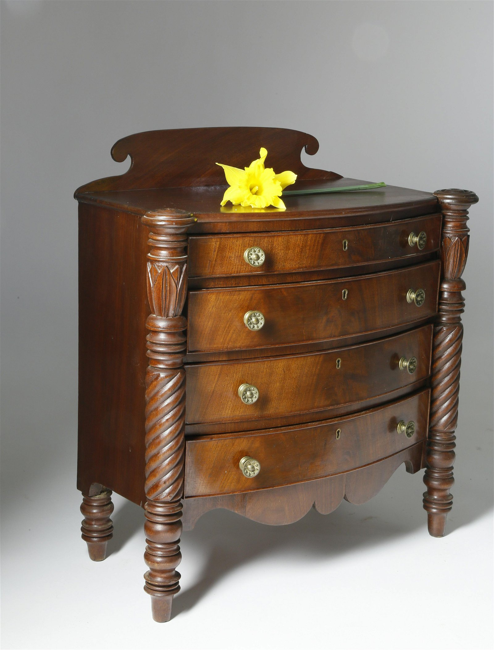 Miniature Mahogany Chest of Drawers, circa 1825