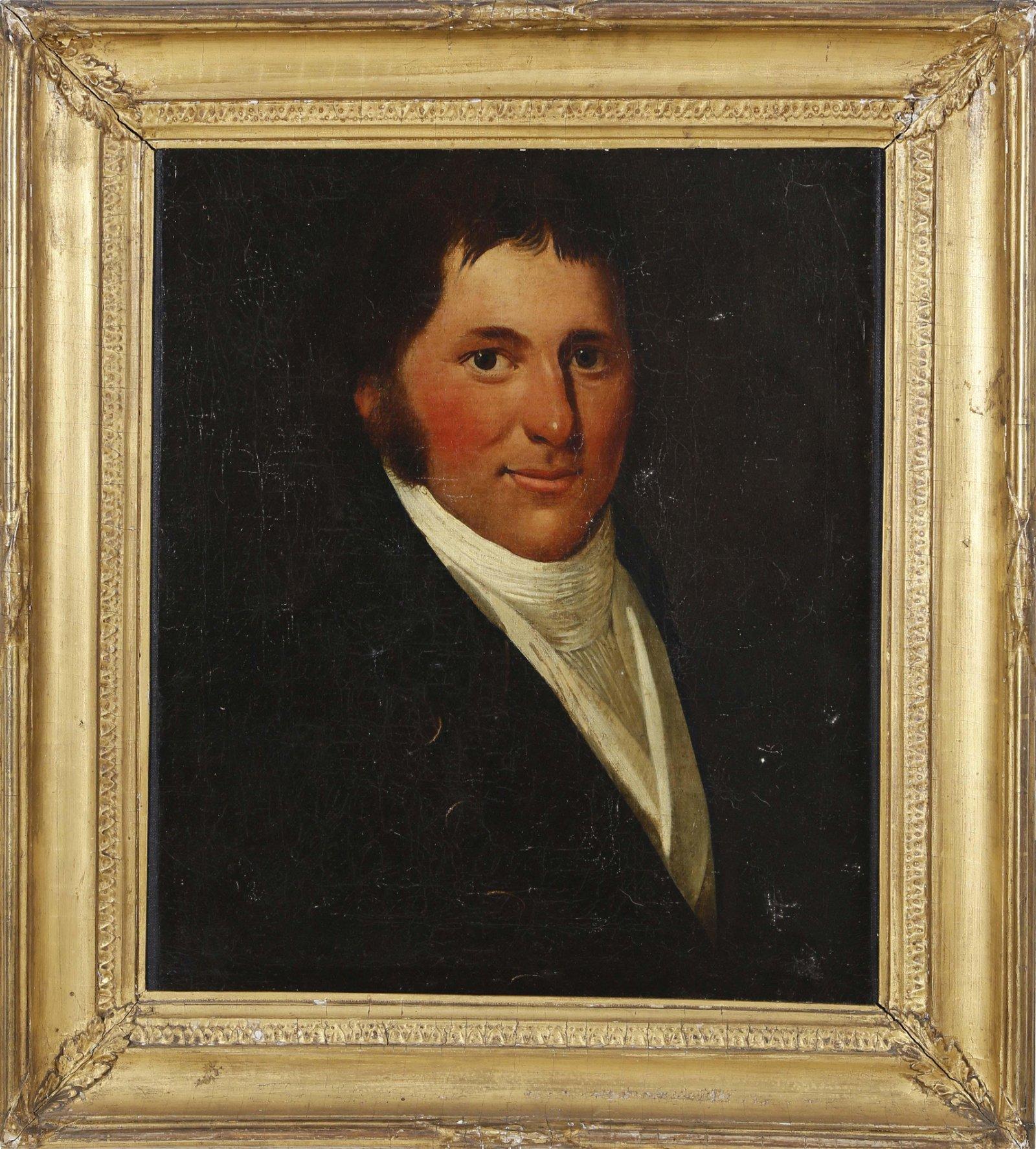 """Oil on Canvas """"Portrait of Captain David Baxter"""""""