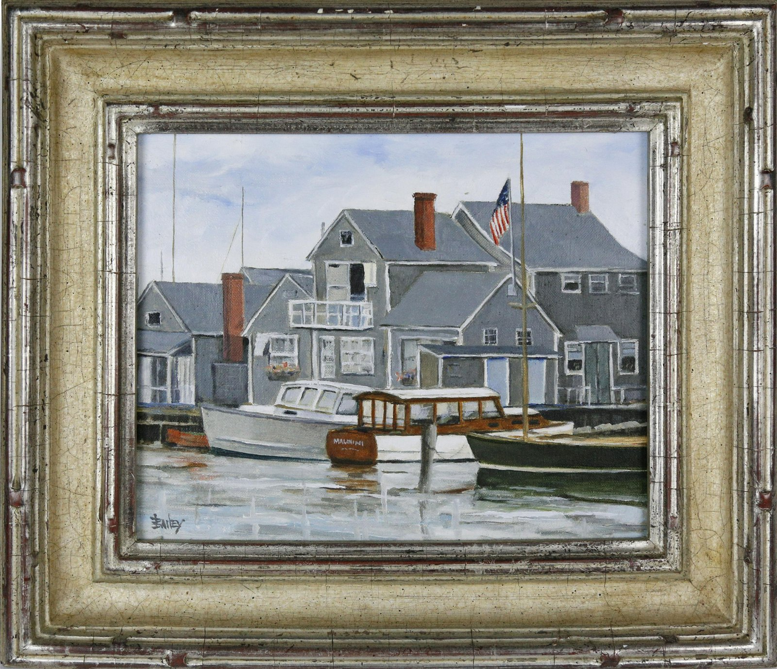 """Roy Bailey Oil on Canvas """"North Wharf"""""""