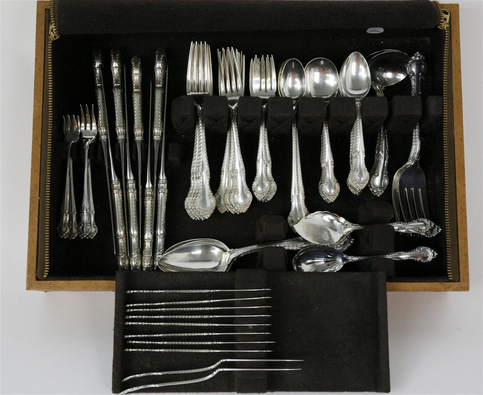 94 Piece Gorham Sterling Silver Flatware Service in