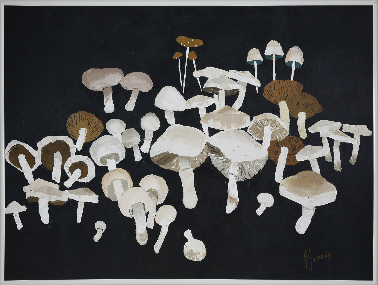 Andrew Shunney Oil on Canvas Still Life,
