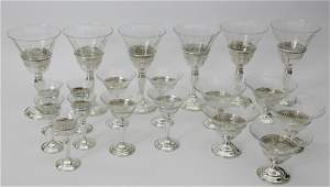 Whiting and Company Sterling Silver and Etched Crystal