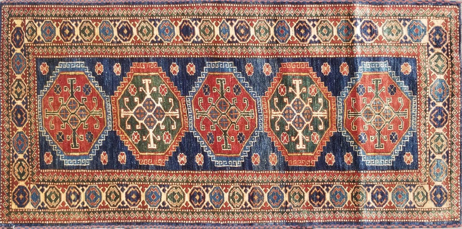 Shirvan Kazak Hand Woven Wool Rug