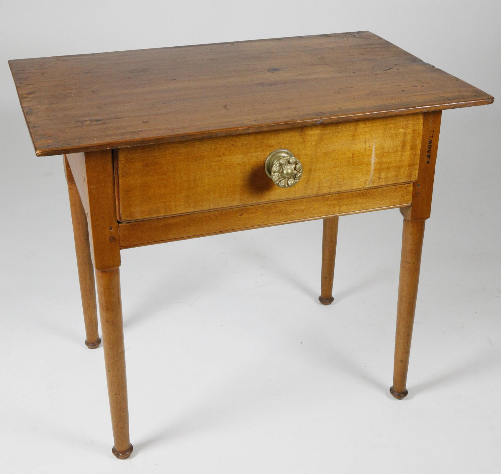 American Pine and Cherry One Drawer Tavern Table, 18th