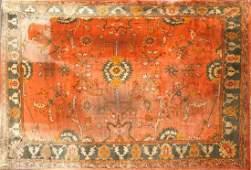 Vintage Oushak Hand Woven Wool Carpet