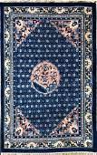 Vintage Chinese Peking Hand Woven Carpet