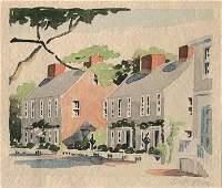 "Doris & Richard Beer Watercolor on Paper ""Fair Street"""