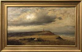 William Ferdinand Macy Oil Sankaty Head Light Nantucket