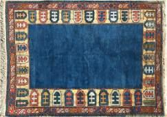 Vintage Hand Woven Turkish Wool Carpet