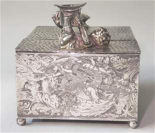 Rogers, Smith & Co Silver Plated Cigar Box