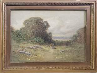 George William Whitaker Antique Oil on Canvas Landscape