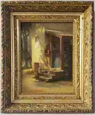 Johann Friedrich Engel 19th C. Oil on Canvas The Suitor
