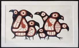 "Norval Morrisseau Ltd Ed Litho ""Gathering Loons"""