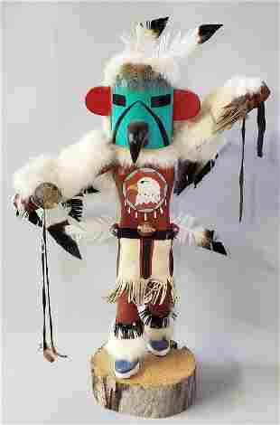 """Vintage Hand Carved and Painted, """"Dancing Eagle"""""""