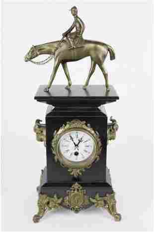 Contemporary Jockey Mantel Clock