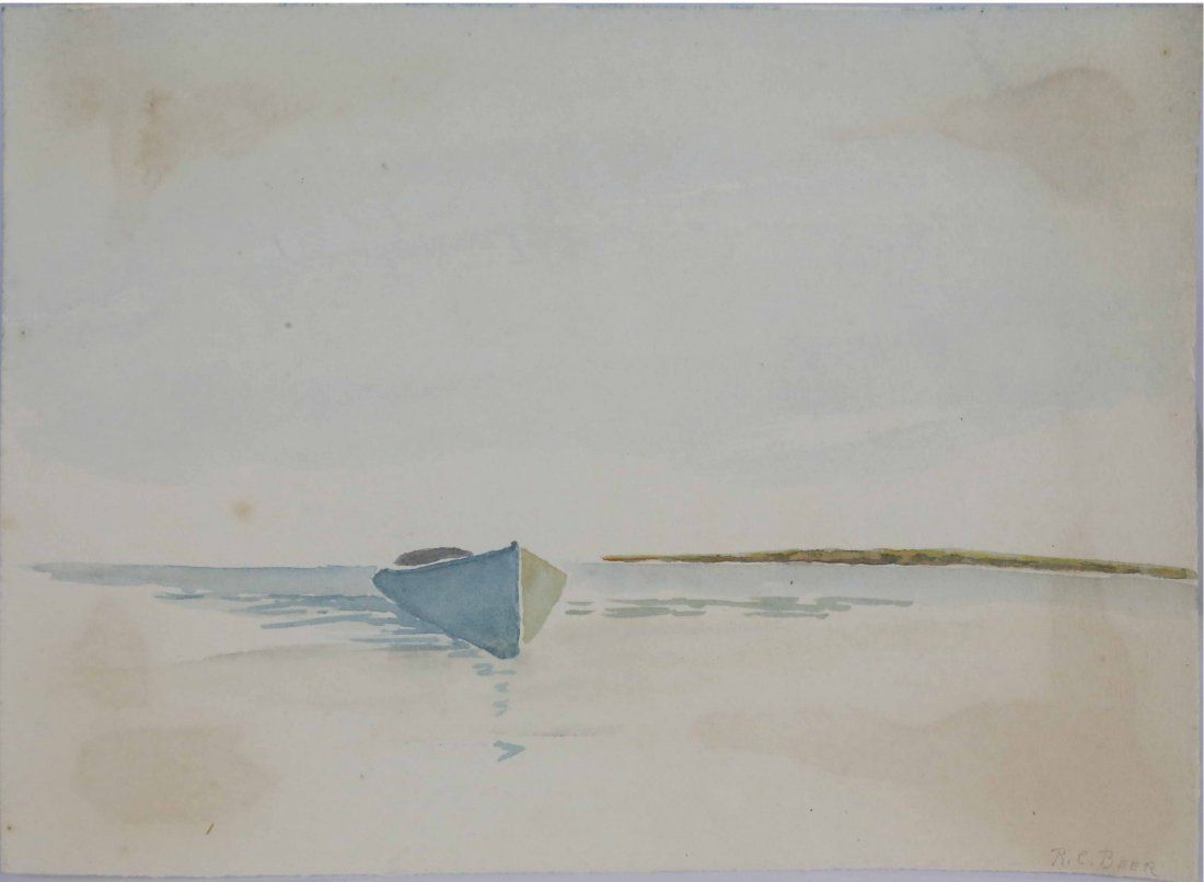 Richard Beer (1893-1959) Early Watercolor on Paper