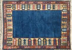 Vintage Hand Woven Wool Turkish Carpet